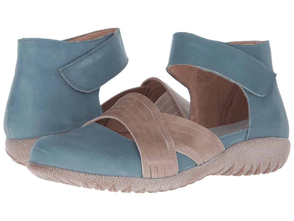 Naot Footwear Tenei (Sea Green Leather/Khaki Beige Leather) Women
