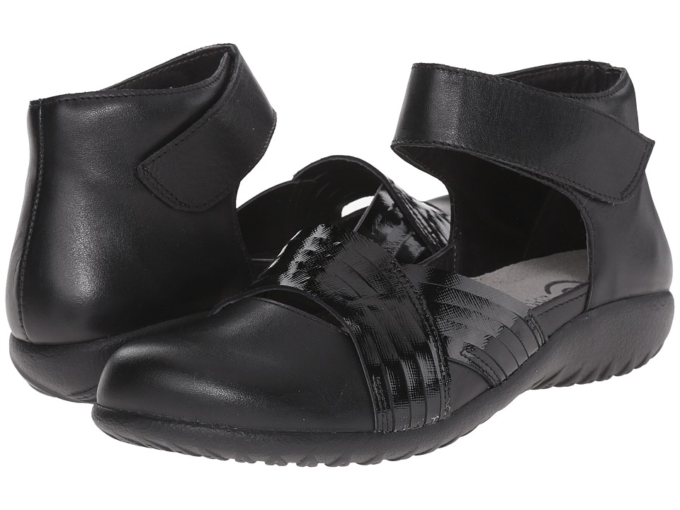 Naot Footwear Tenei (Black Raven Leather/Black Luster Leather) Women