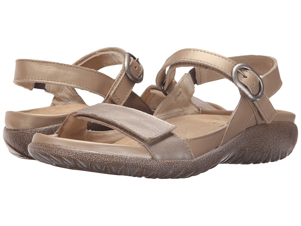 Naot Footwear - Mozota (Champagne Leather/Satin Gold Leather) Women's Sandals