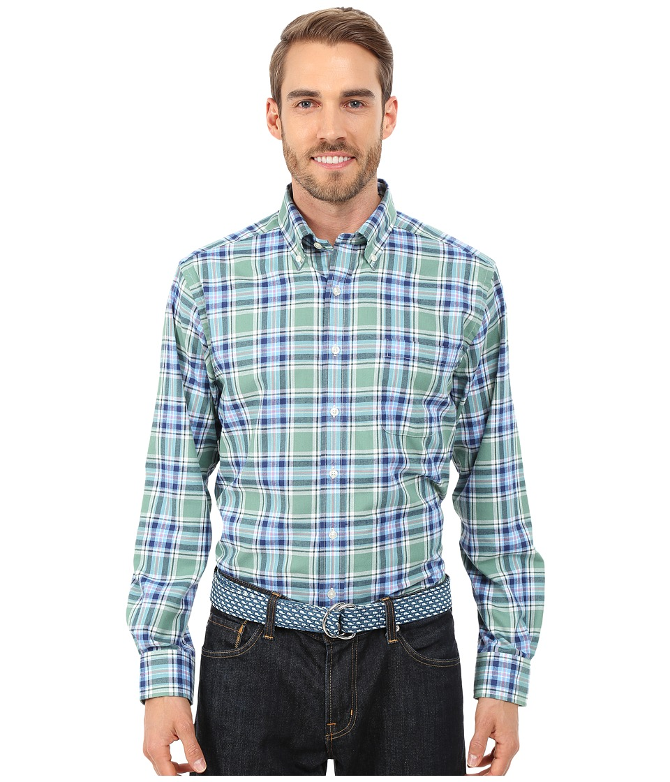 Vineyard Vines - Hammersmith Plaid Slim Murray Shirt (Starboard Green) Men's Long Sleeve Button Up