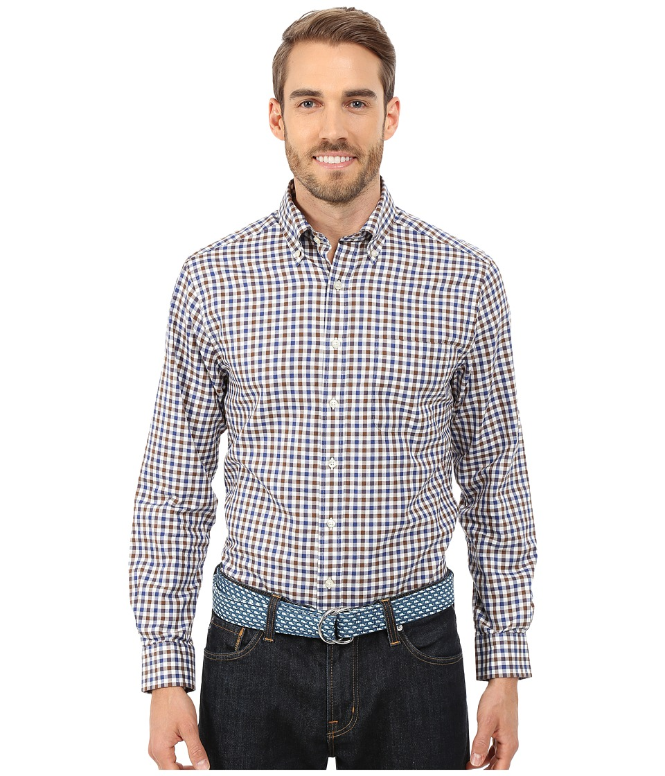 Vineyard Vines - Oatland Check Slim Murray Shirt (Baltic Blue) Men's Long Sleeve Button Up