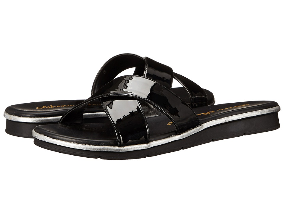 Athena Alexander Norisse Black Patent Womens Slide Shoes