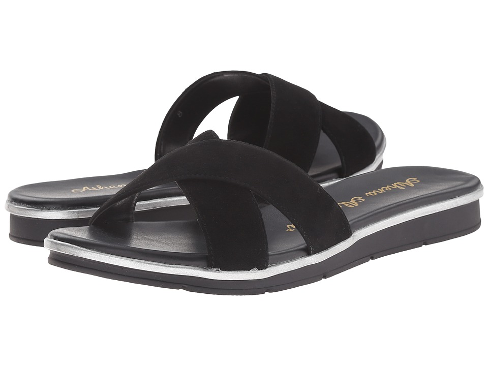 Athena Alexander - Norisse (Black Suede) Women's Slide Shoes