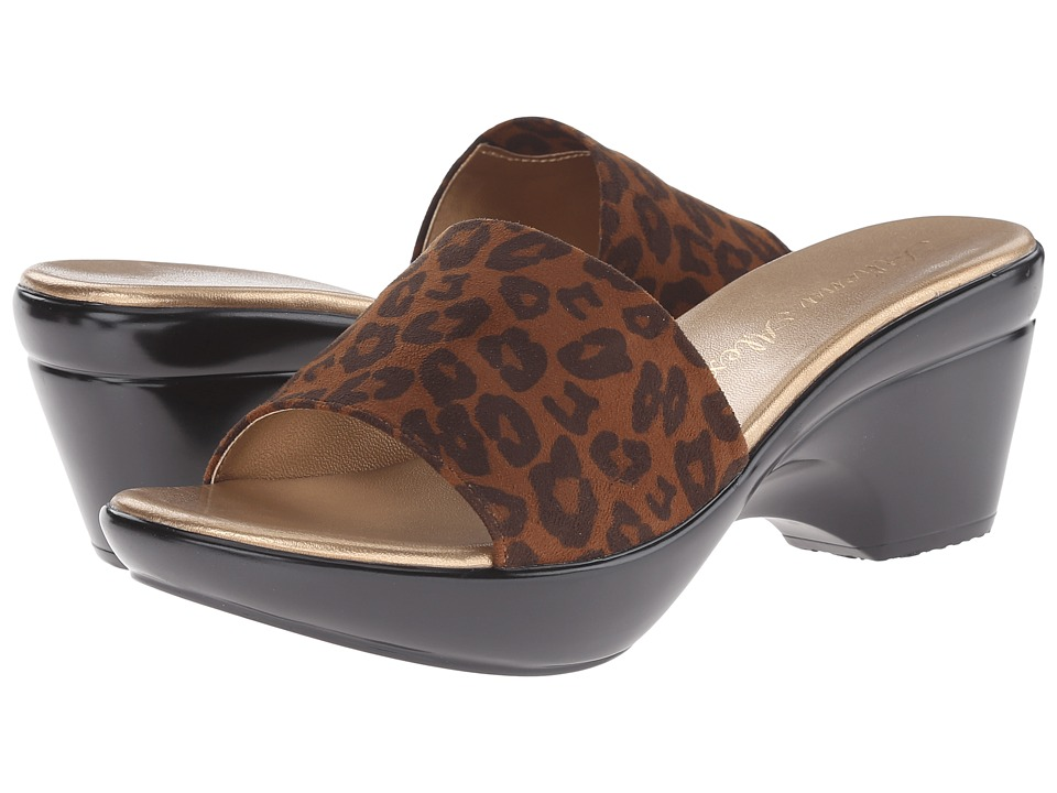 Athena Alexander - Lorie (Tan Leopard) Women's Slide Shoes