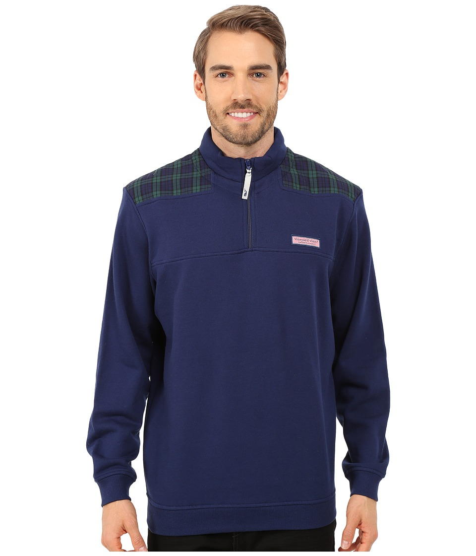 Vineyard Vines - Blackwatch Shoulder Shep Shirt (Deep Bay) Men's Sweatshirt
