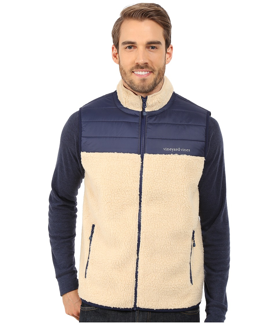 Vineyard Vines - Sherpa Full Zip Vest (Camel) Men's Vest