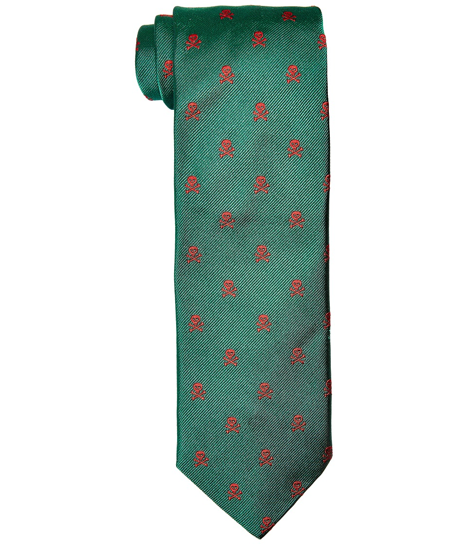 Vineyard Vines - Skull Cross Bones Woven Tie (Green) Ties
