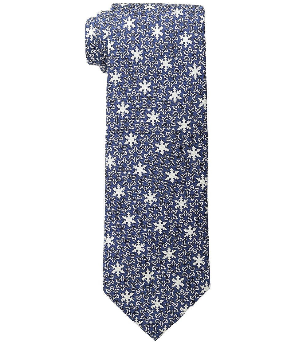 Vineyard Vines - Printed Tie - Snowflake (Navy) Ties