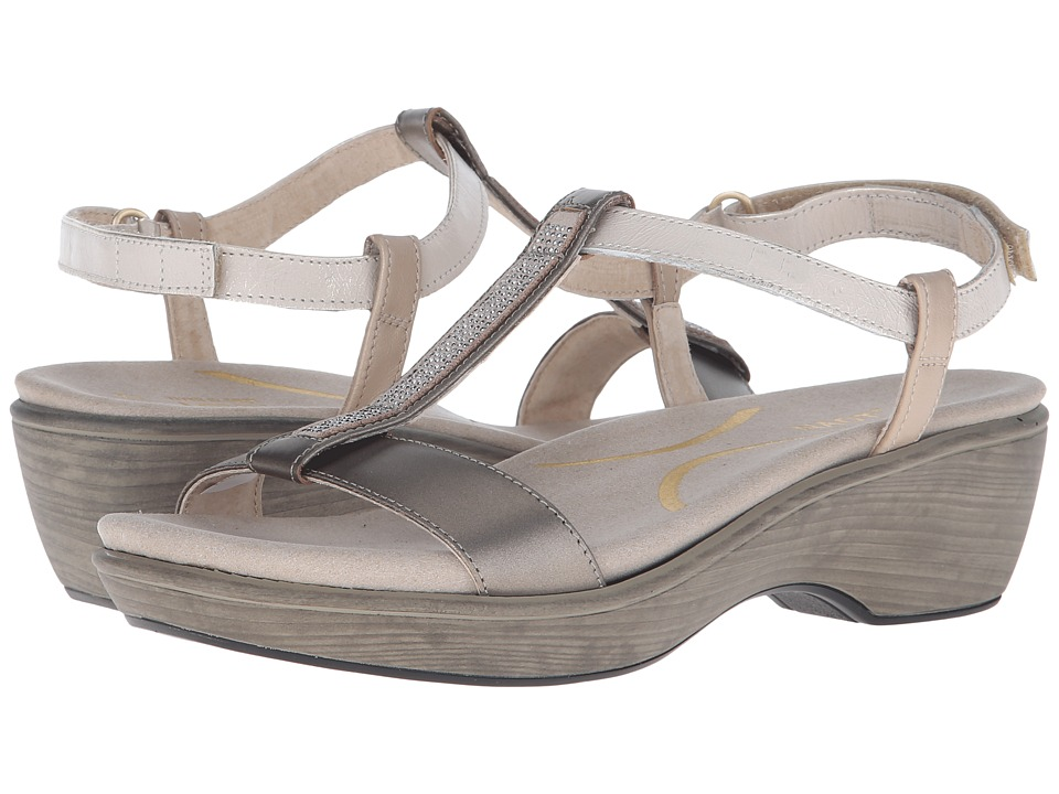 Naot Footwear - Marsanne (Pewter Leather/Dusty Silver Leather/Satin Gold Leather/Pewter) Women's Sandals