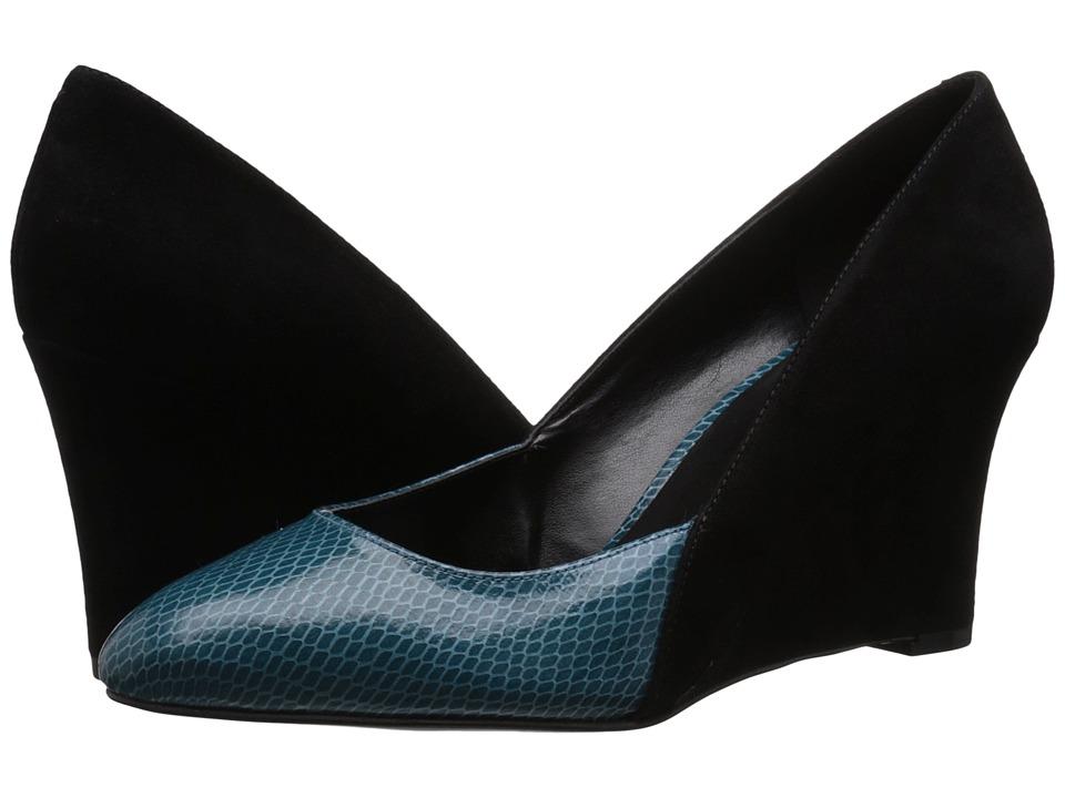Nine West - Devinity (Black/Blue Green Suede) Women's Shoes