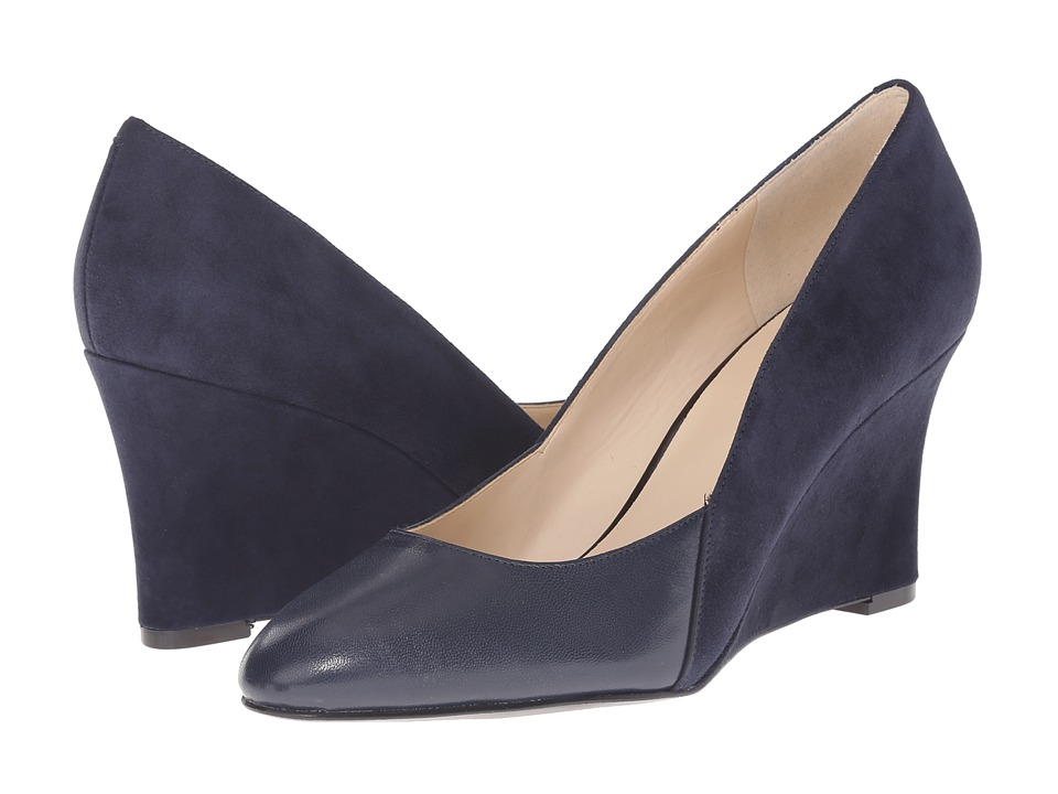 Nine West - Devinity (Navy/Navy Suede) Women's Shoes