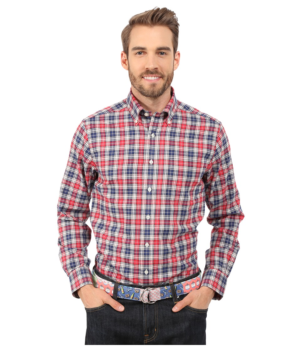 Vineyard Vines - Westway Plaid Slim Murray Shirt (Lighthouse Red) Men's Clothing