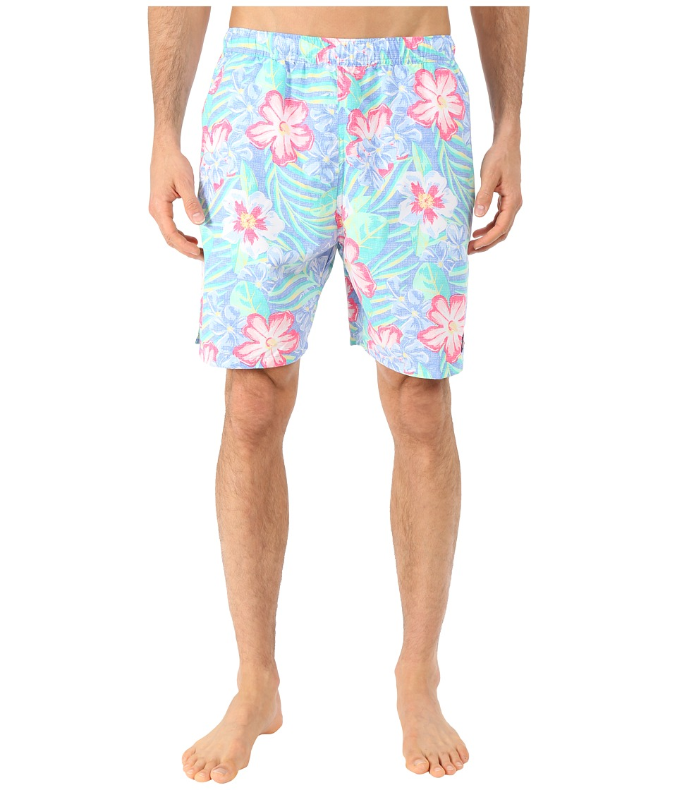 Vineyard Vines - Island Floral Chappy Trunk (Bayside Blue) Men's Swimwear