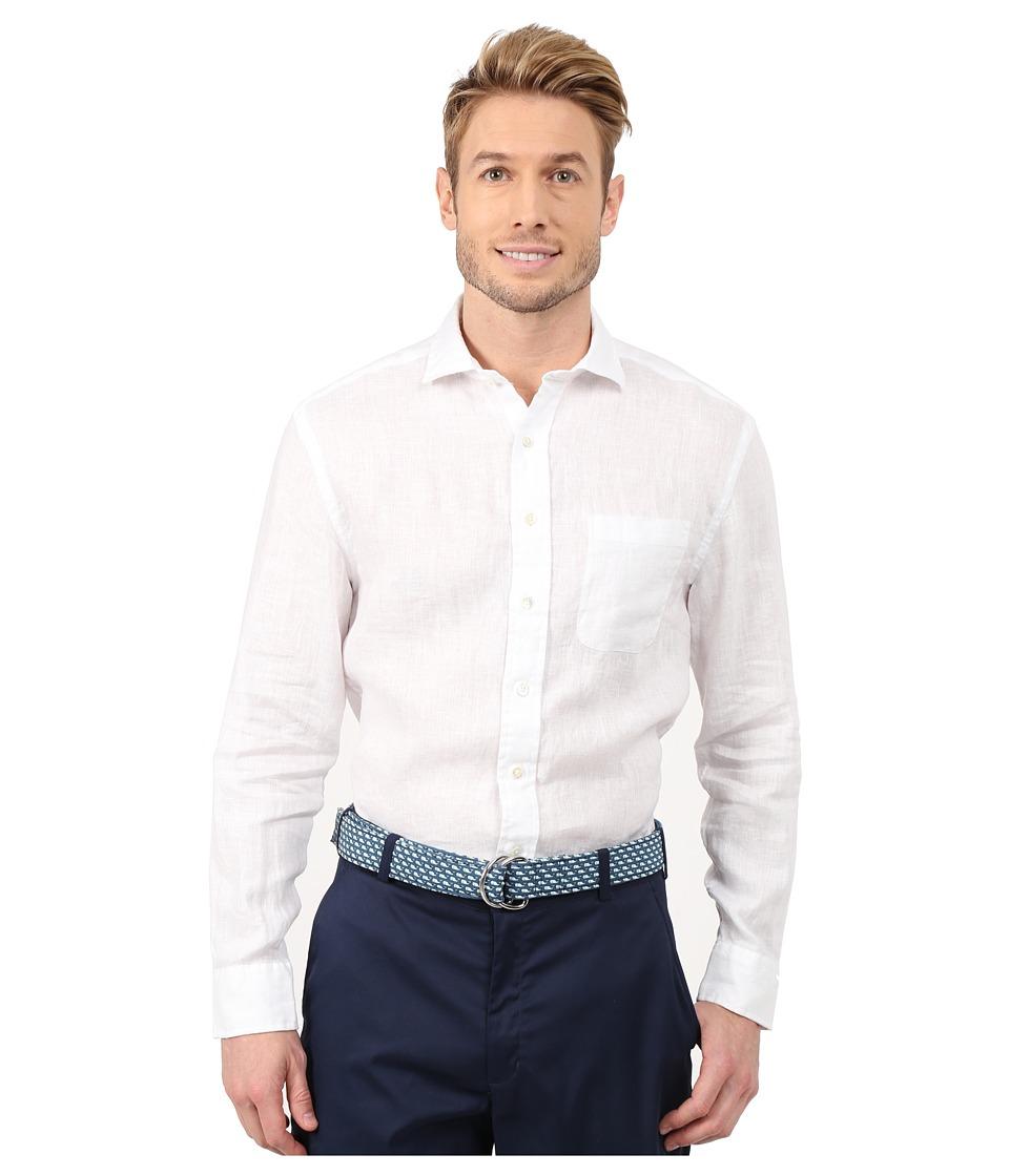 Vineyard Vines - Classic Linen Spread Collar Shirt (White Cap) Men's Clothing