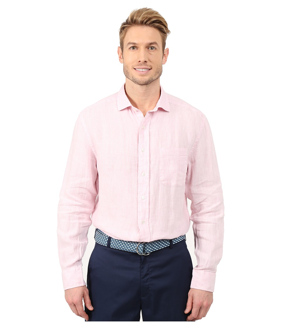 Vineyard Vines - Overdye Classic Linen Spread Shirt (Flamingo) Men's Clothing
