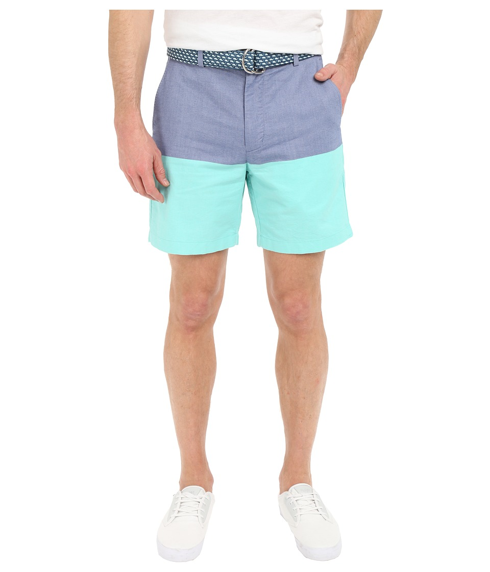 Vineyard Vines Oxford Color Block Breaker Shorts (Capri Blue) Men