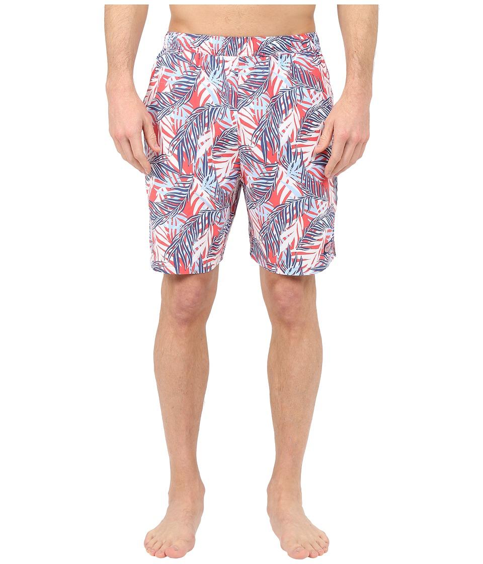 Vineyard Vines - Date Palm Leaves Chappy Trunk (Jetty Red) Men's Swimwear