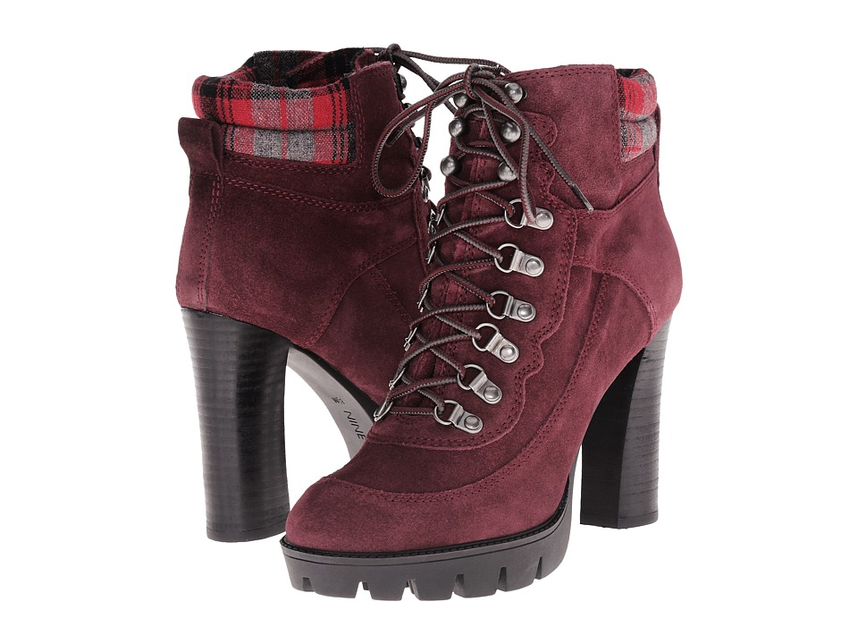 Nine West Abrial (Dark Red/Dark Red Suede) Women