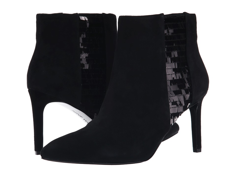 Nine West - Emilee (Black/Black Suede) Women's Pull-on Boots