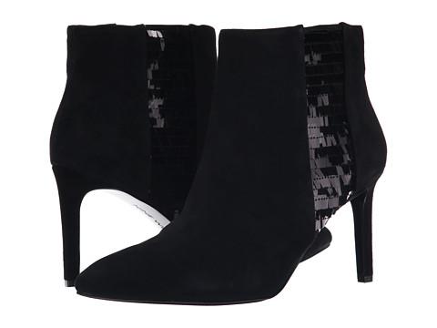 Nine West - Emilee (Black/Black Suede) Women's Pull-on Boots