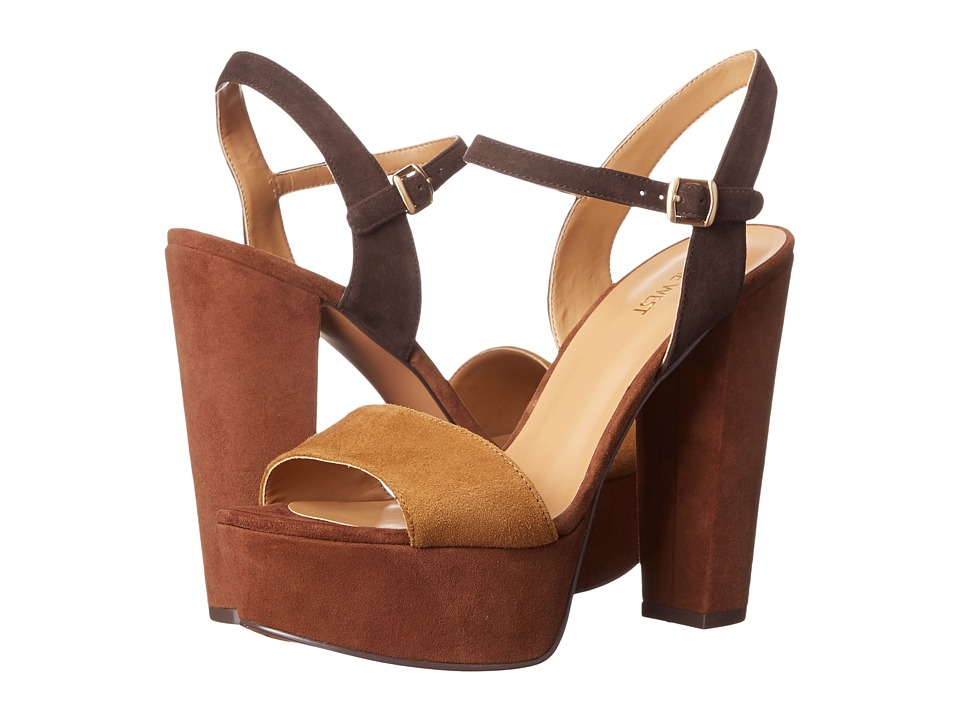 Nine West - Carnation (Dark Natural/Dark Brown Suede) High Heels