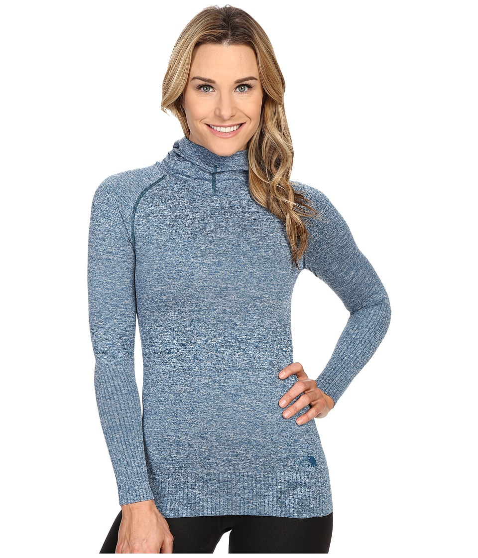 The North Face - Go Seamless Pullover Hoodie (Blue Coral Heather) Women's Sweatshirt