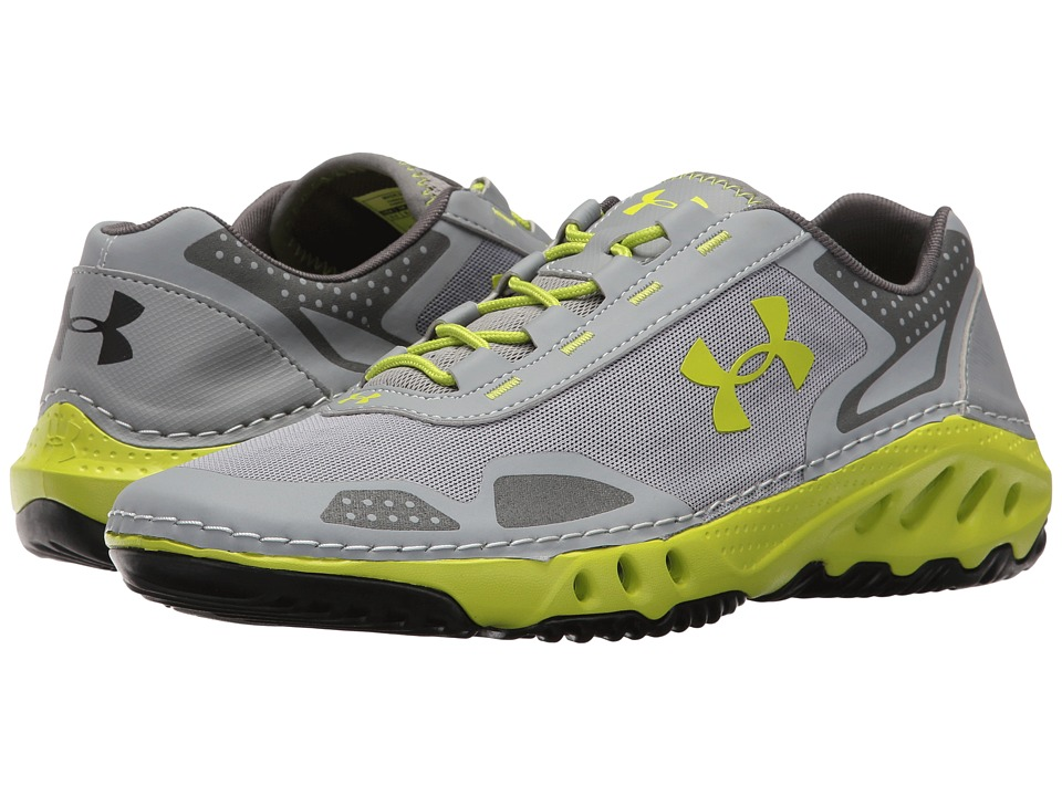 Under Armour - UA Drainster (Steel/Graphite/Velocity) Men's Shoes