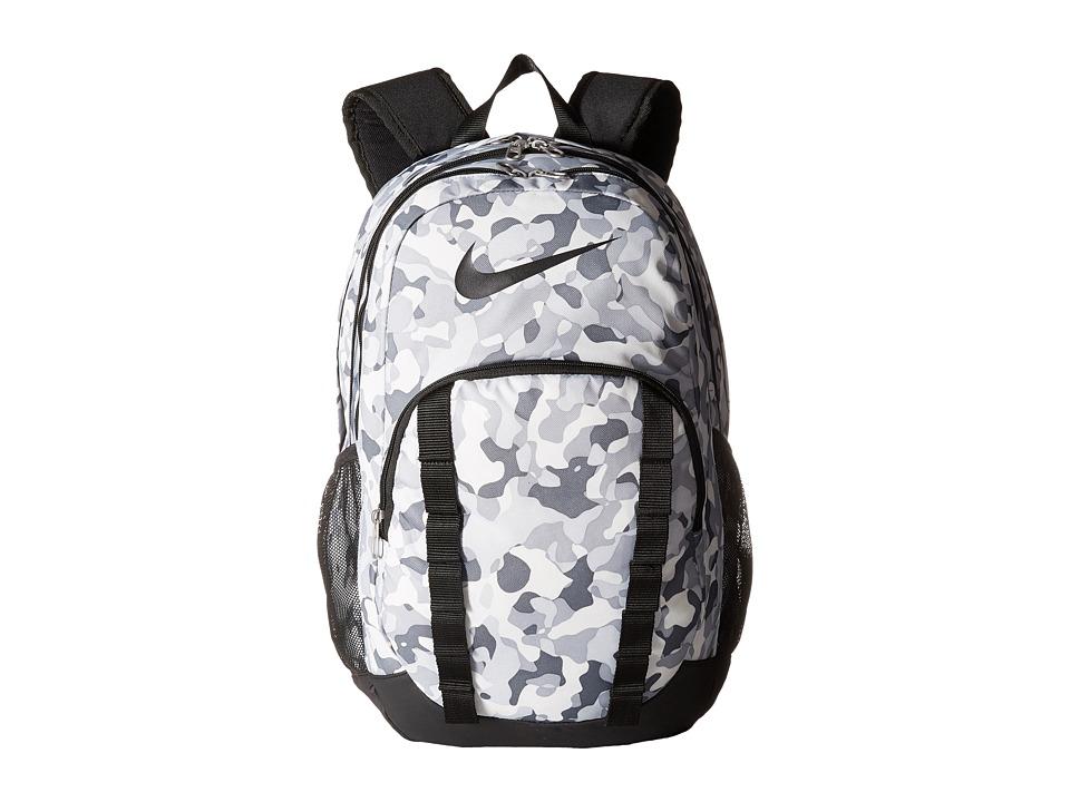 Nike - Brasilia 7 Backpack Graphic XL (Pure Platinum/Black/Black) Backpack Bags