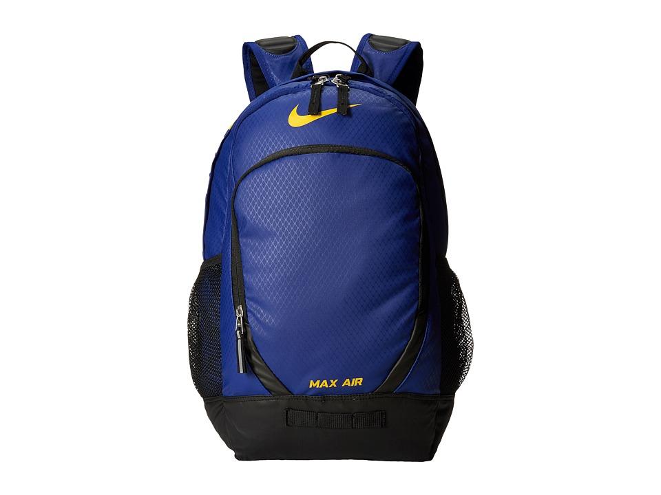 Nike - Team Training Max Air Large Backpack (Deep Royal Blue/Black/University Gold) Backpack Bags