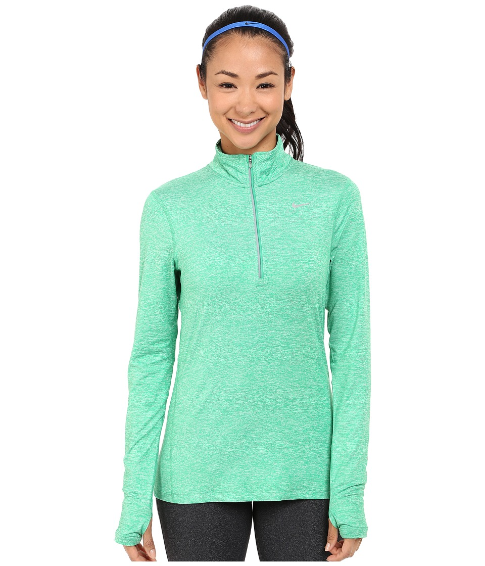 Nike - Dri-FIT Element Half Zip (Spring Leaf/Heather/Reflective Silver) Women's Long Sleeve Pullover