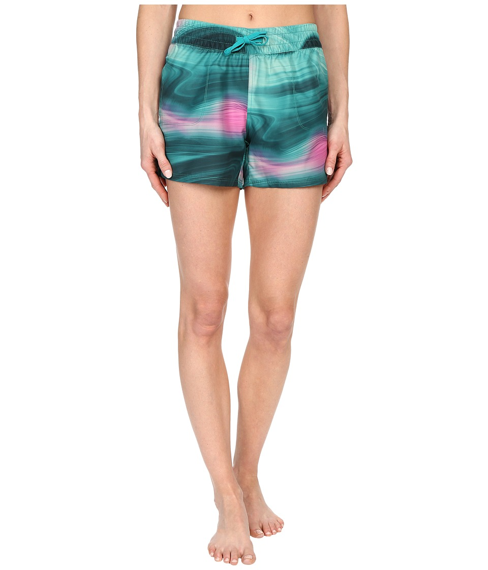The North Face - Printed Class V Shorts (Teal Blue Water Swirl Print) Women's Shorts