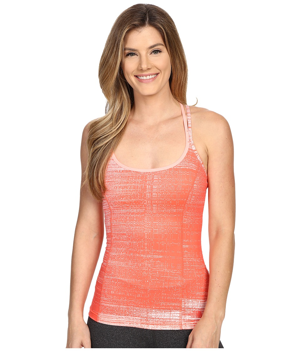 The North Face Empower Tank Top (Radiant Orange Scratchy Print) Women