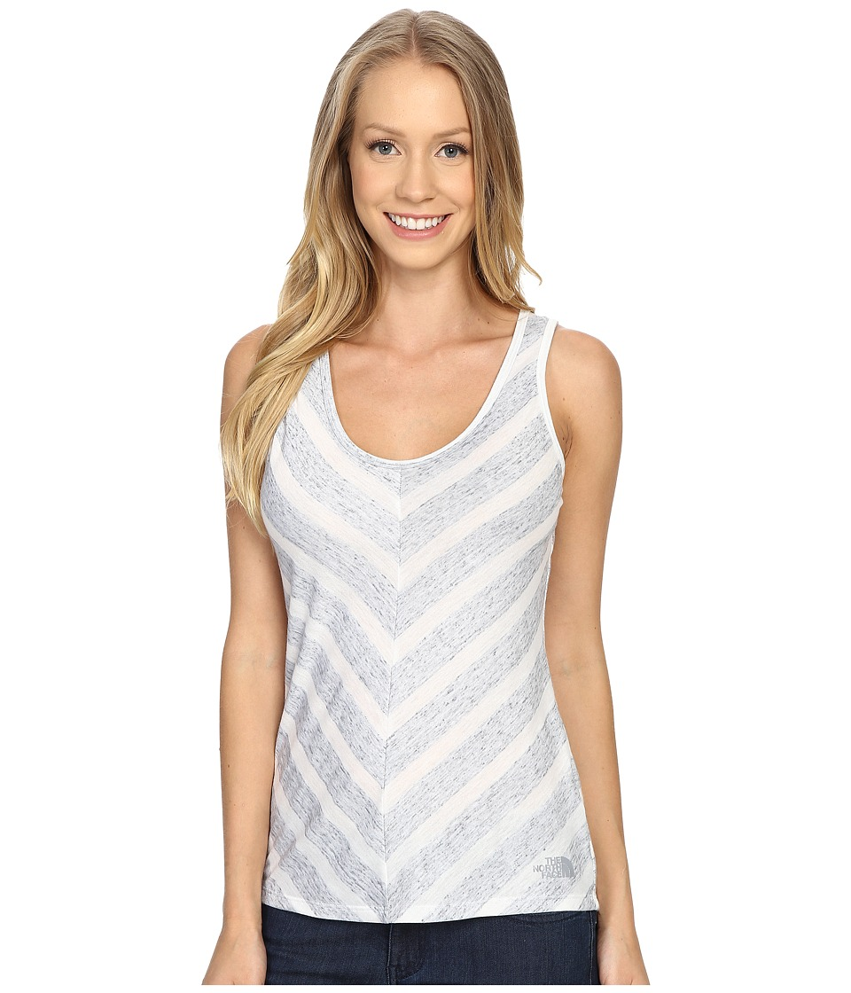 The North Face - Striped Breezeback Tank Top (TNF White) Women's Sleeveless
