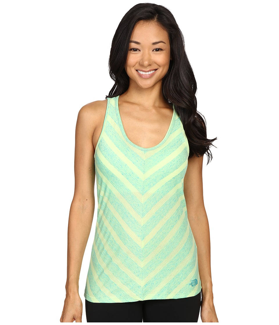 The North Face - Striped Breezeback Tank Top (Budding Green) Women's Sleeveless