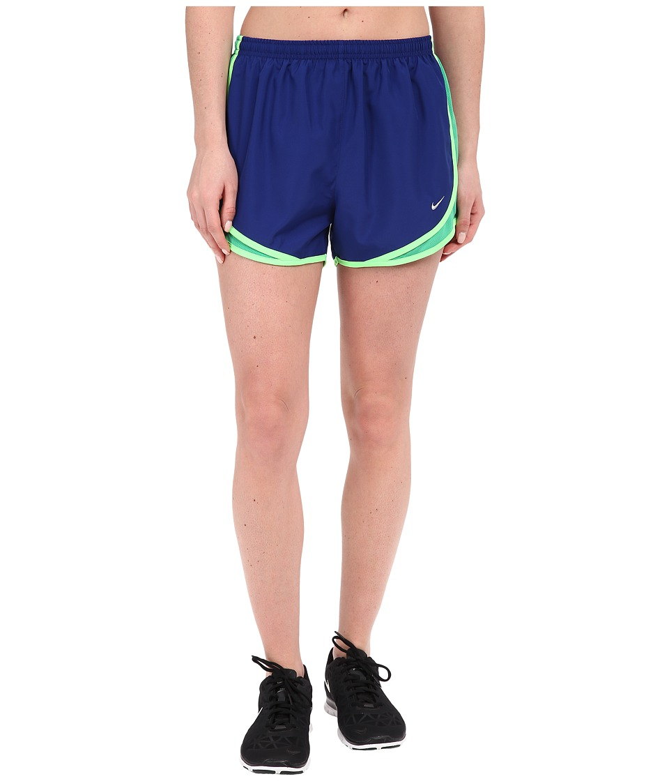 Nike - Tempo Short (Deep Royal Blue/Spring Leaf/Voltage Green/Wolf Grey) Women's Workout