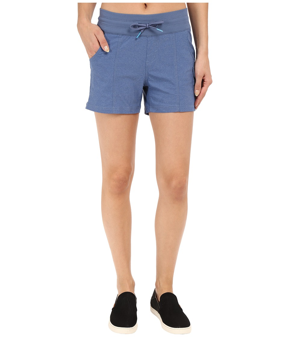 The North Face - Aphrodite Shorts (Indigo Heather Mini Stripe) Women's Shorts
