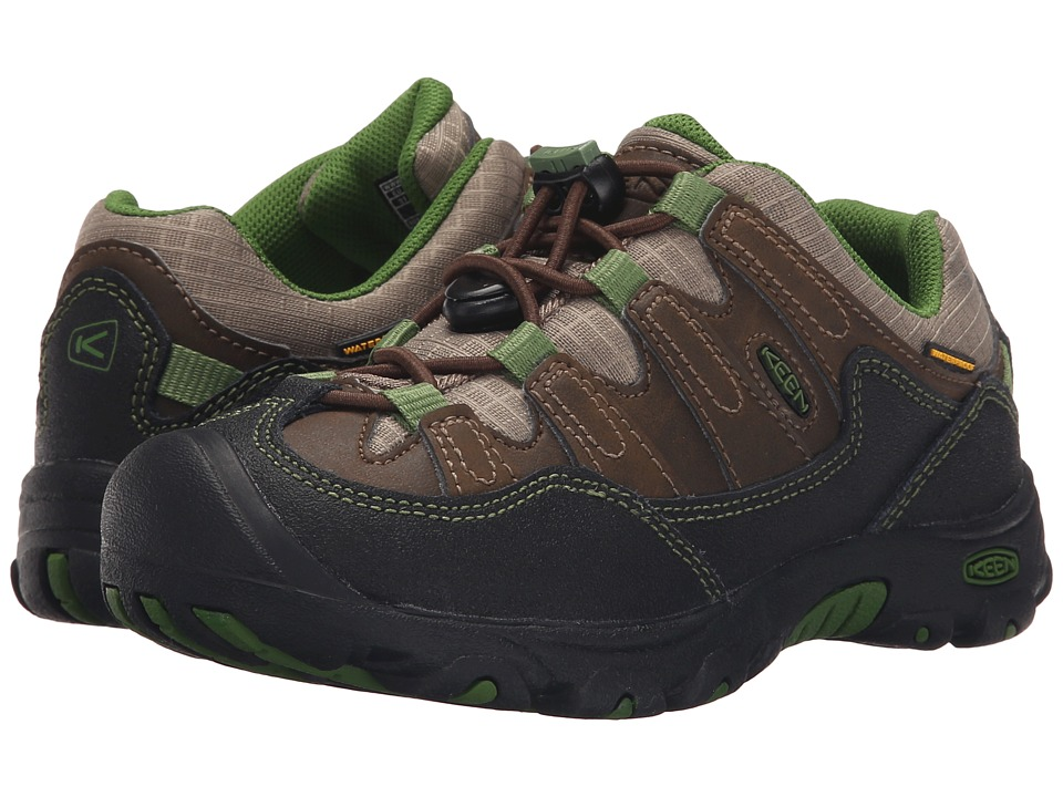 Keen Kids - Pagosa Low WP Wide (Toddler/Little Kid) (Cascade Brown/Treetop) Boy's Shoes