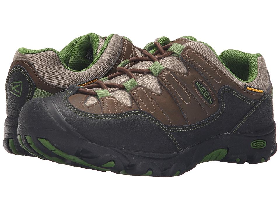Keen Kids - Pagosa Low WP Wide (Little Kid/Big Kid) (Cascade Brown/Treetop) Boy's Shoes