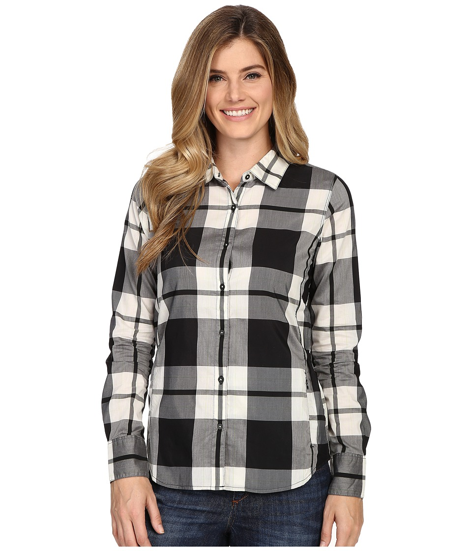 The North Face - Long Sleeve Shade Me Shirt (TNF Black Plaid) Women's Long Sleeve Button Up