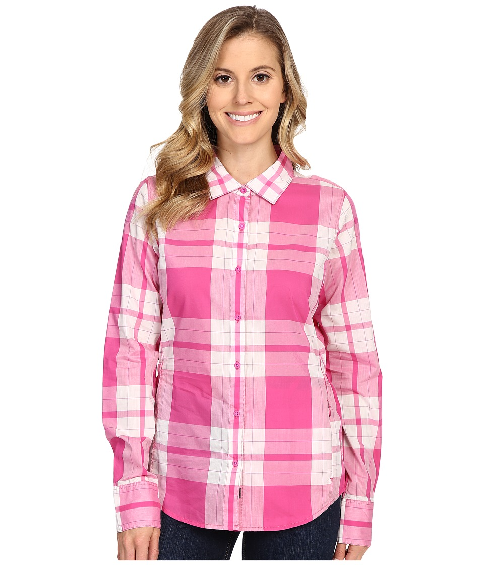 The North Face - Long Sleeve Shade Me Shirt (Raspberry Rose Plaid) Women's Long Sleeve Button Up