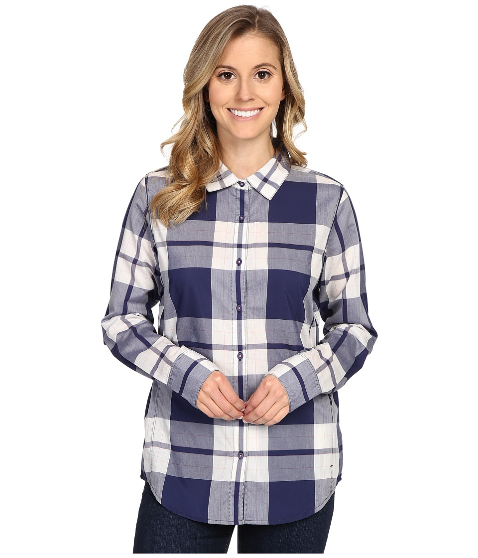 The North Face - Long Sleeve Shade Me Shirt (Patriot Blue Plaid) Women's Long Sleeve Button Up