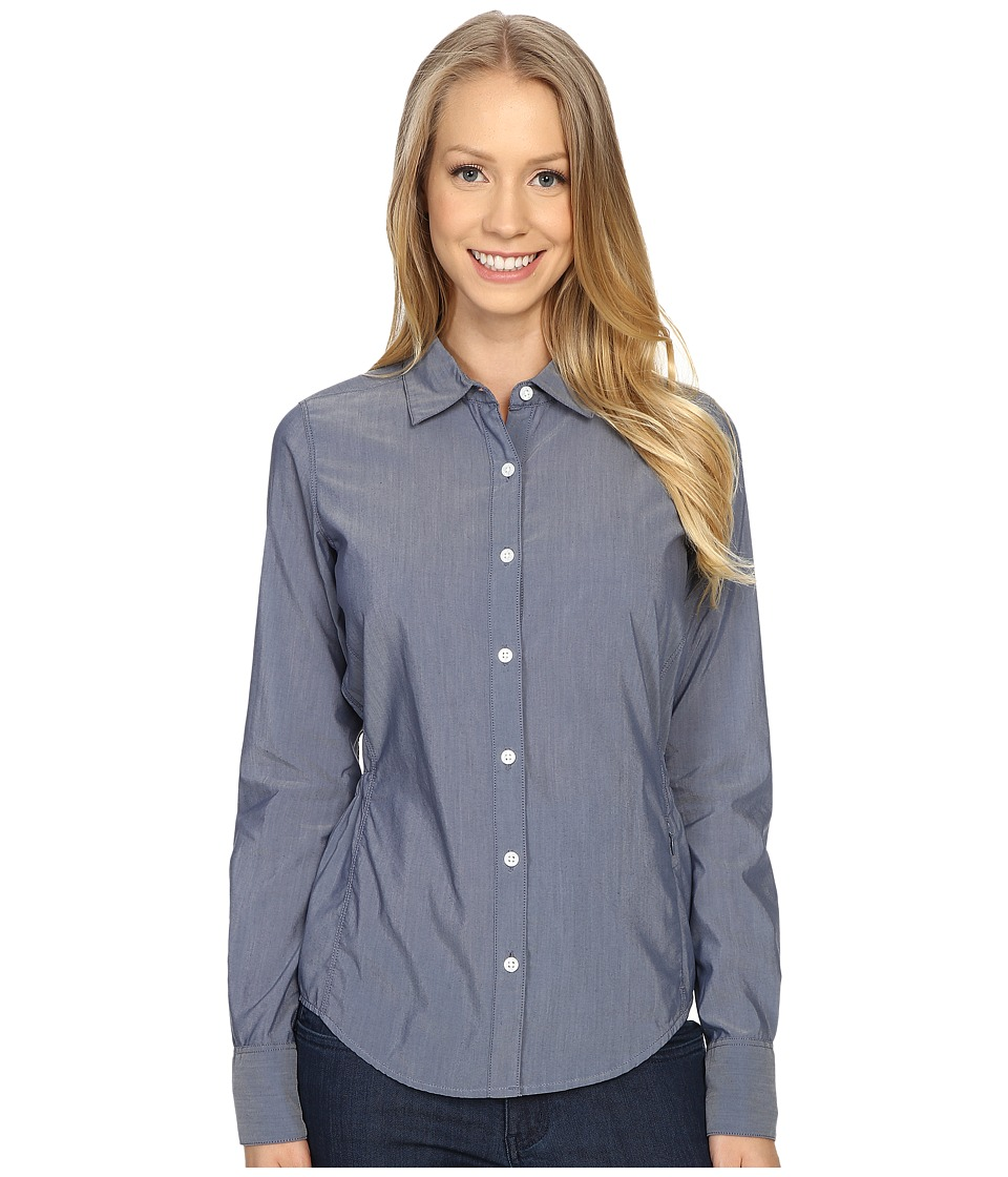 The North Face - Long Sleeve Shade Me Shirt (Indigo Chambray) Women's Long Sleeve Button Up