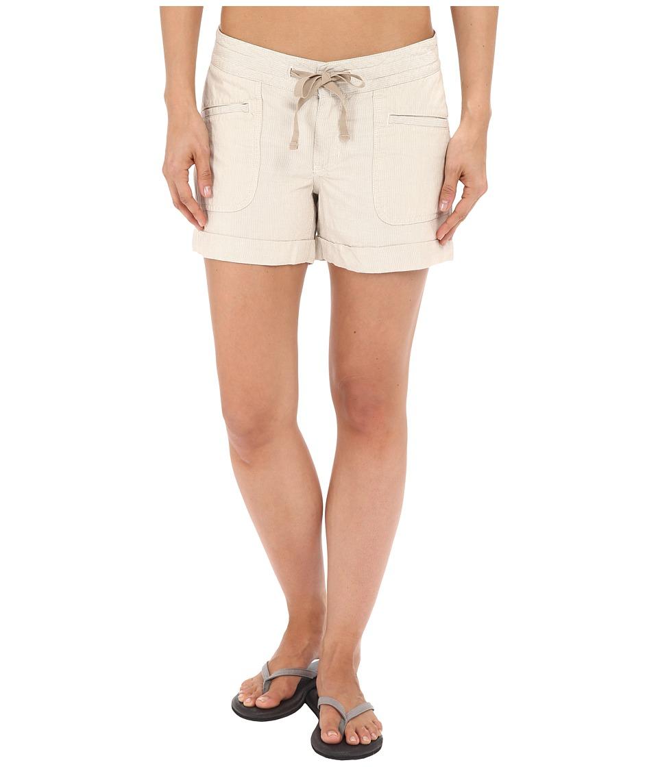 The North Face - Wander Free Shorts (Dune Beige Stripe) Women's Shorts