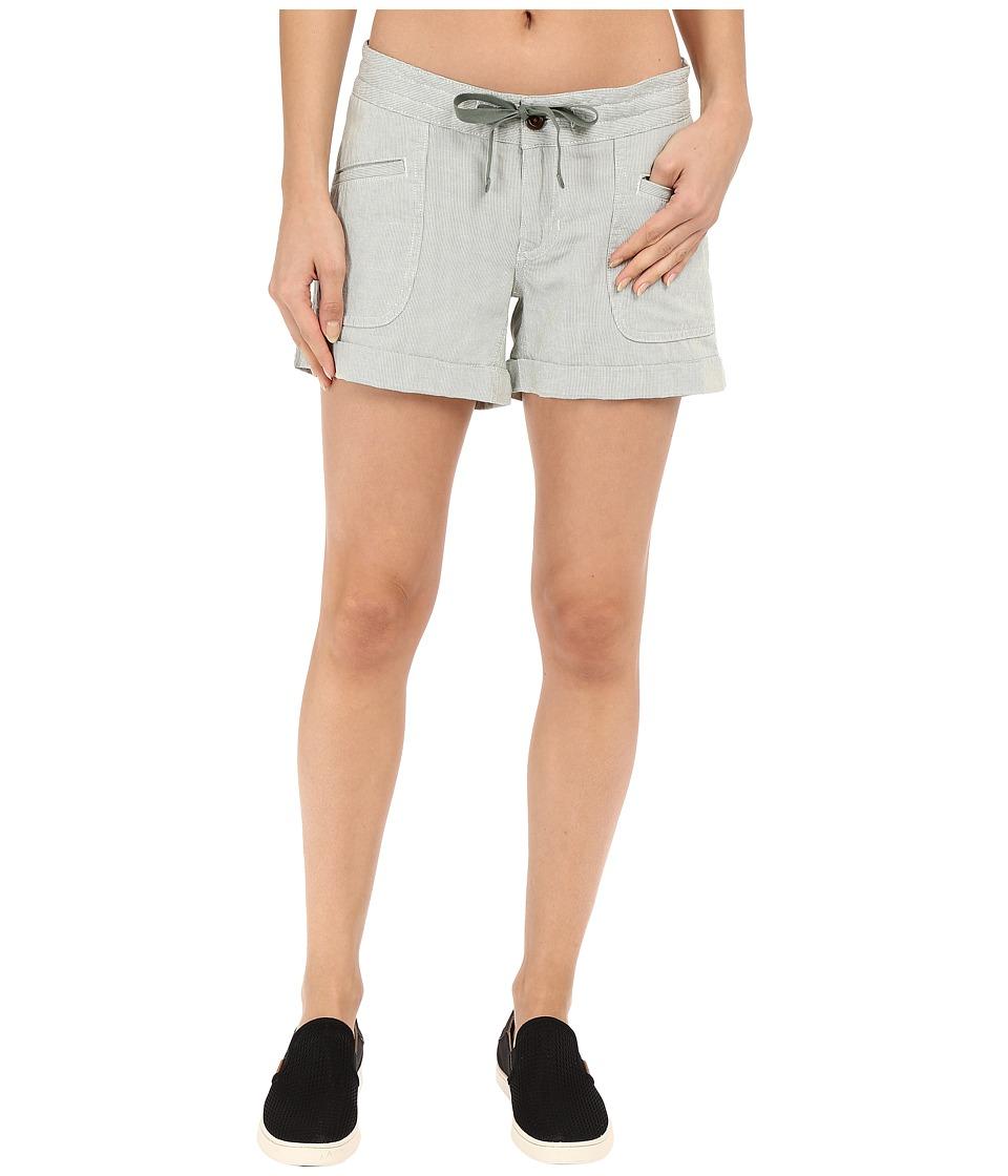 The North Face - Wander Free Shorts (Laurel Wreath Green Stripe) Women's Shorts
