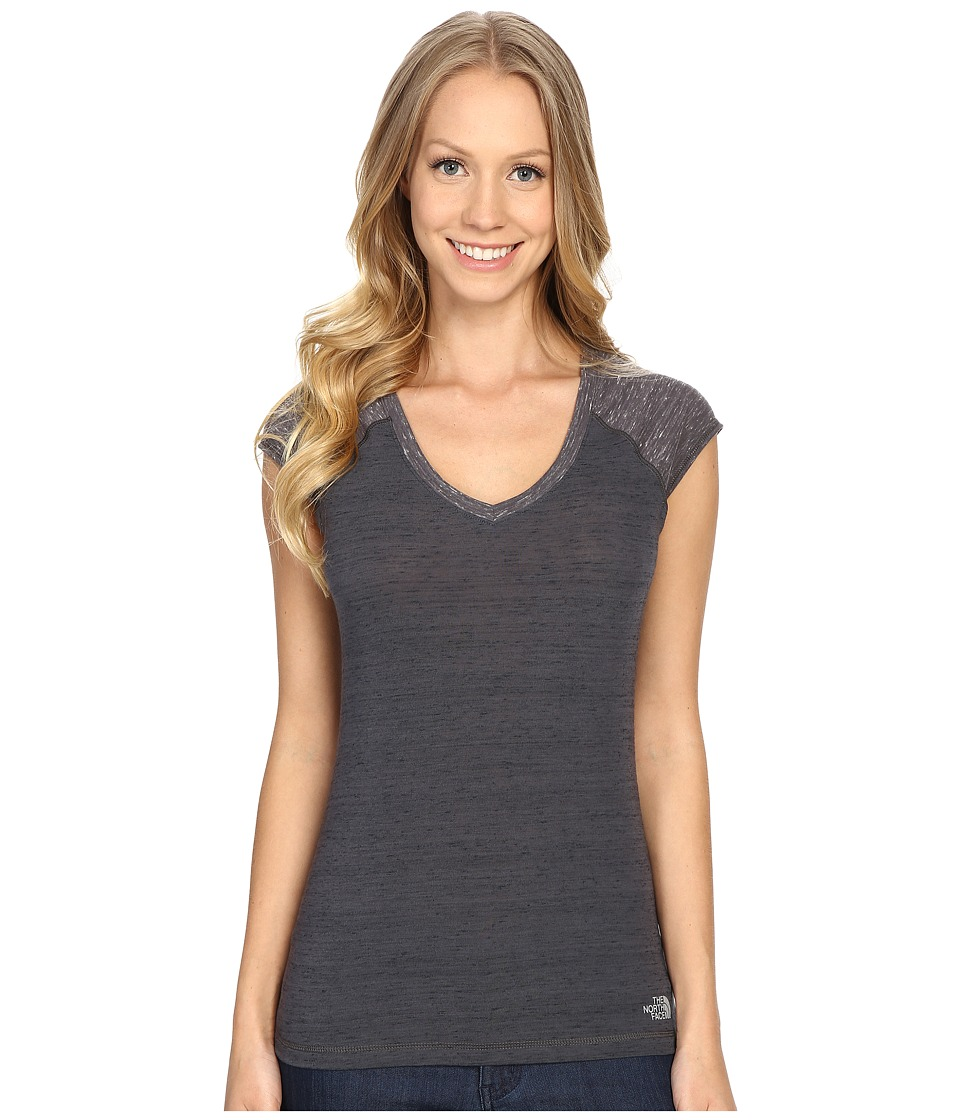 The North Face - Short Sleeve EZ Raglan Tee (Graphite Grey Melange) Women's T Shirt