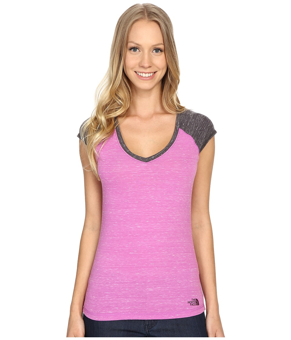 The North Face - Short Sleeve EZ Raglan Tee (Sweet Violet Melange) Women's T Shirt