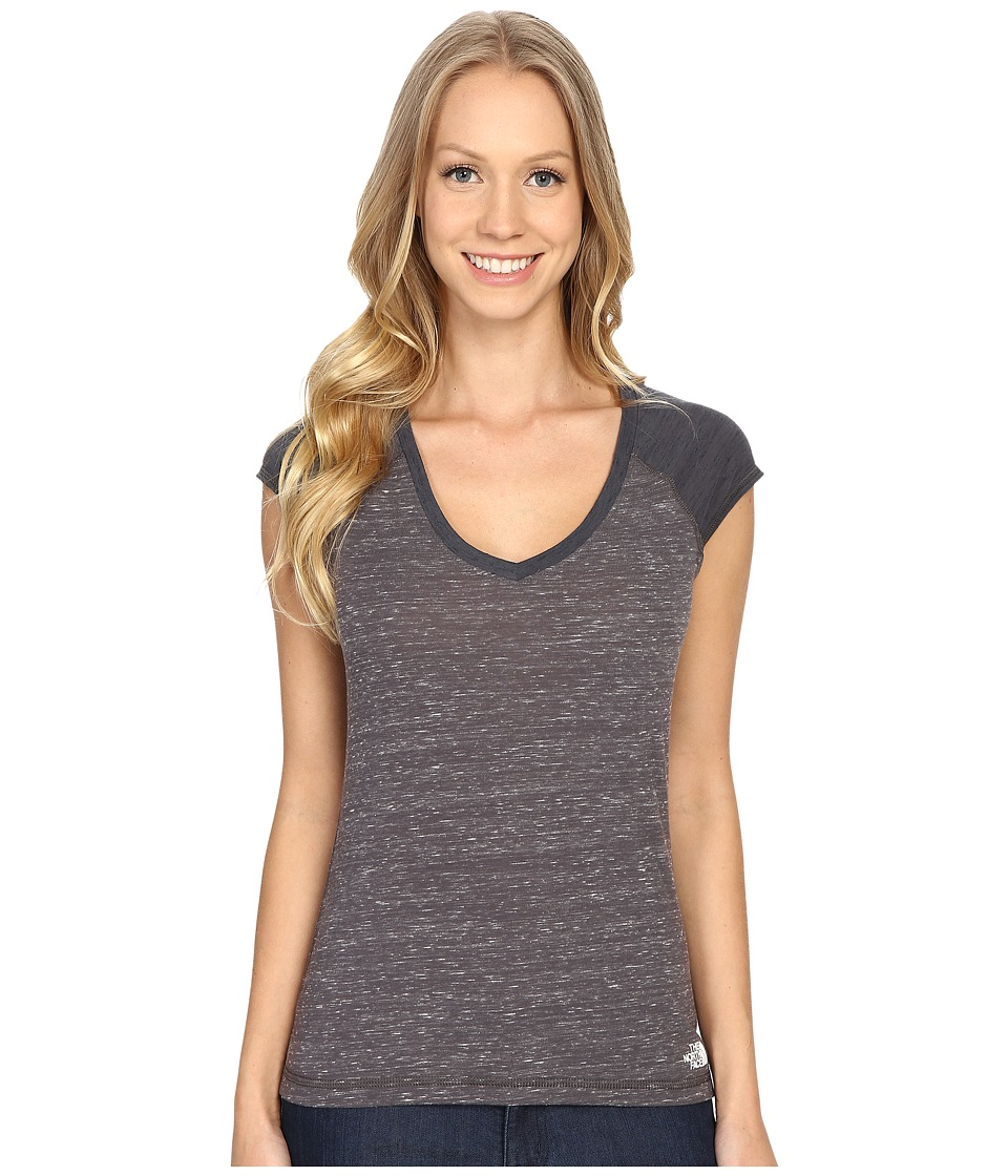 The North Face - Short Sleeve EZ Raglan Tee (High Rise Grey Melange) Women's T Shirt