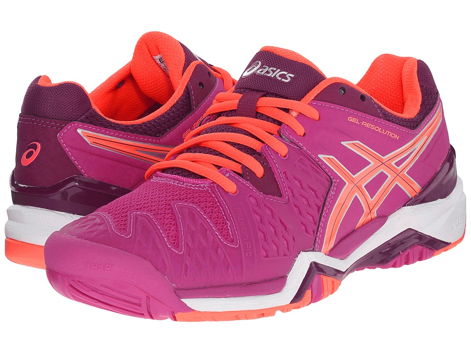 ASICS - GEL-Resolution 6 (Berry/Flash Coral/Plum) Women's Tennis Shoes