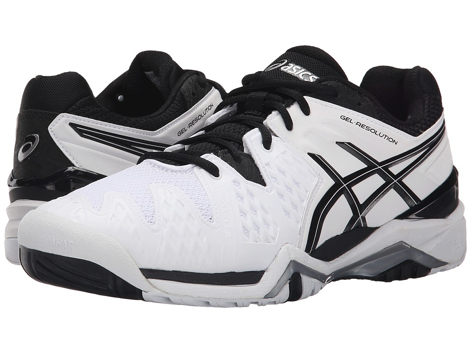 ASICS GEL-Resolution 6 (White/Black/Silver) Men