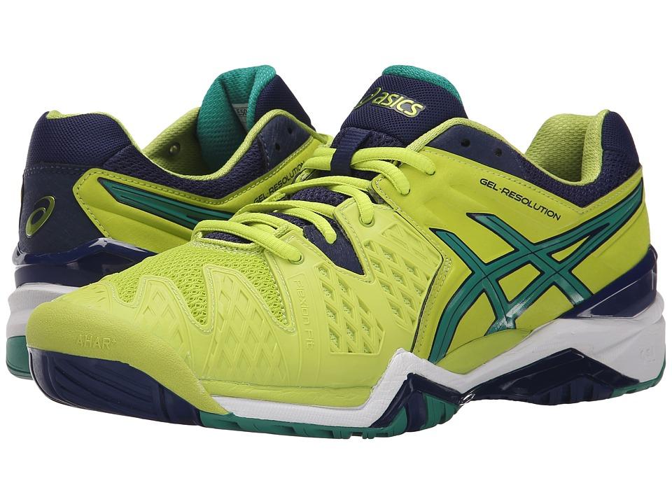 ASICS - GEL-Resolution 6 (Lime/Pine/Indigo Blue) Men's Shoes